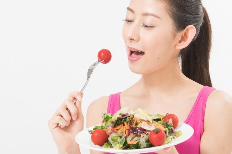バランスの取れた食事と適度な運動